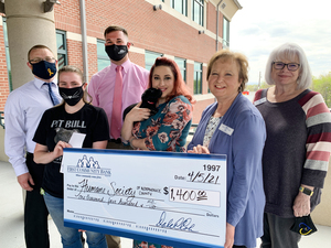 FIRST COMMUNITY BANK RAISES FUNDS FOR HUMANE SOCIETY OF INDEPENDENCE COUNTY